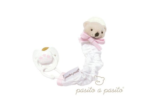 Pasito A Pasito Pasito A Pasito Soother Clip Bear Pink