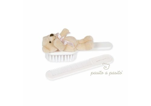 Pasito A Pasito Pasito A Pasito Brush And Comb With Bear Pink