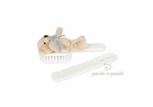 Pasito A Pasito Pasito A Pasito Brush And Comb With Bear Blue