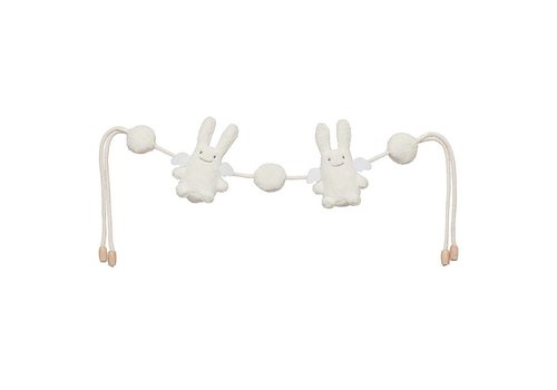 Trousselier Trousselier Rattles Angel Rabbit With Cords Ivory