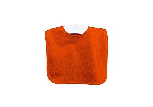 Timboo Timboo Bib Extra Big 37 x 50 With Push Button Orange