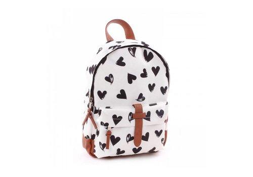 Kidzroom Kidzroom Backpack With Hearts Black-White 31x23x9