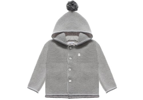 Nanan Nanan Sweater Met Kap Pompon Grijs