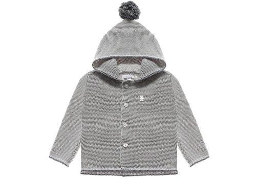 Nanan Sweater Met Kap Pompon Grijs