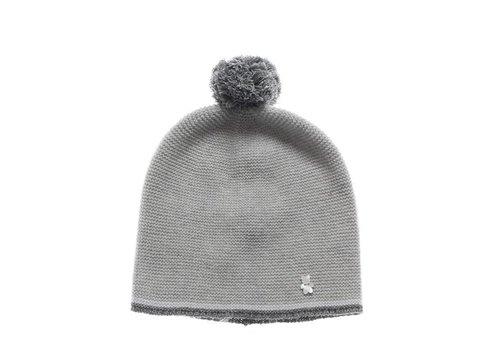 Nanan Nanan Hat Grey With Pom Pom