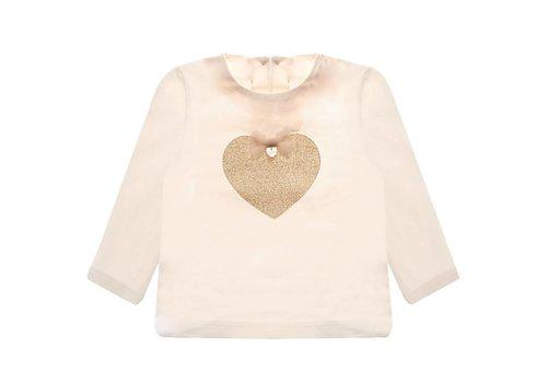 Nanan T-Shirt Roze Met Glitter Hart