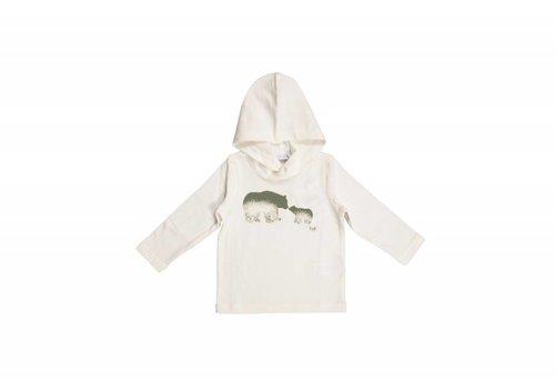 Il Gufo Il Gufo T-Shirt Met Kap Ecru 24270