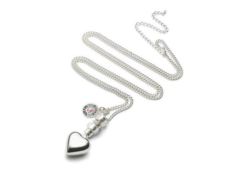 Proud Mama Proud Mama Necklace Baby Bell Deluxe Silvered Heart