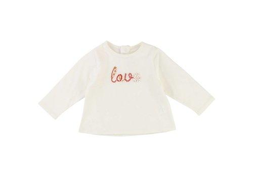 Chloe Chloe T-Shirt Ecru 'Love'