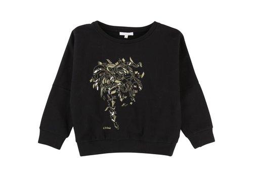 Chloe Chloe Sweater Met Print Zwart