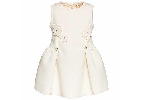 Monnalisa Monnalisa Dress With Flowers Off-white