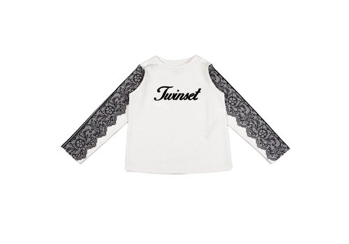 Twinset Twinset T-Shirt Logo Off-white