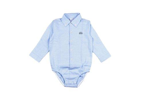 Natini Natini Bodyhemd Vichy Blauw