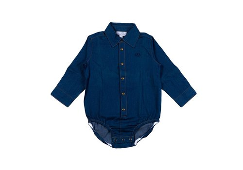 Natini Natini Bodyhemd Blauw Denim
