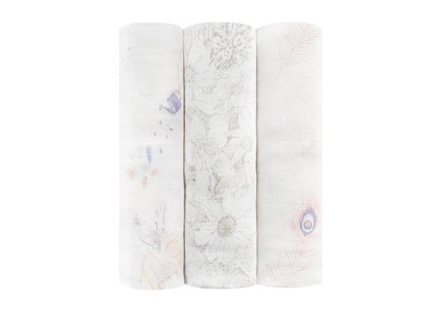 Aden & Anais Aden & Anais Swaddle Silky Soft Featherlight 3-Pack