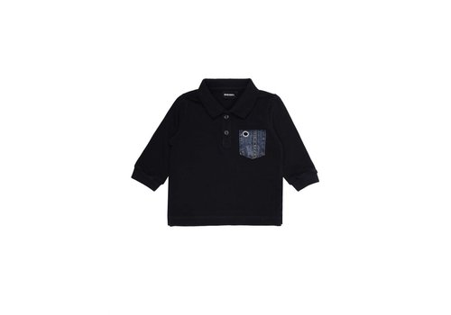 Diesel Diesel Polo Shirt Navy With Chest Pocket