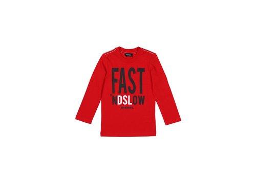 Diesel Diesel T-Shirt Rood Fast 'nd Slow