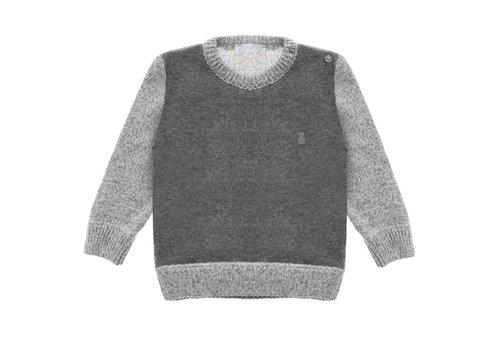 Nanan Sweater Grijs - Donkergrijs Ronde Hals