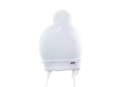 Il Trenino Il Trenino Hat Off-white With Pom Pom