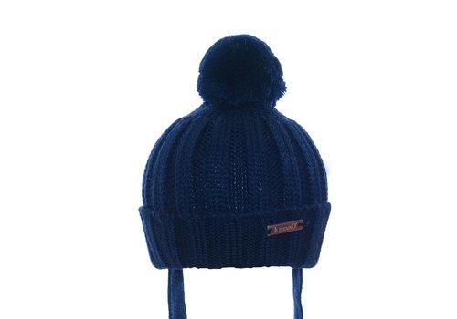 Il Trenino Il Trenino Hat With Pom Pom Navy