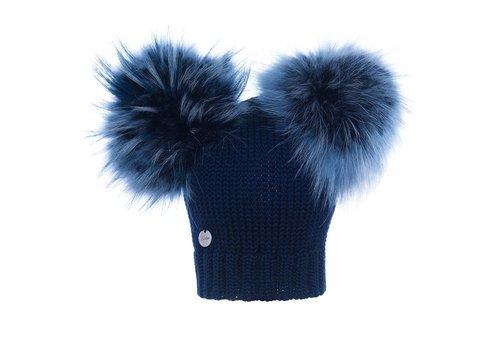 Catya Catya Hat With 2 Pom Pom Navy