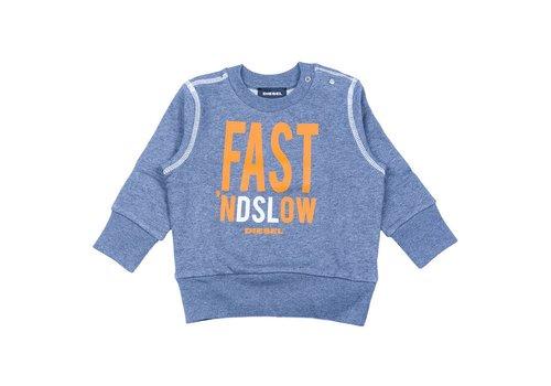 Diesel Diesel Sweater Grijs Fast 'nd Slow