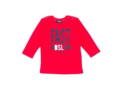 Diesel Diesel T-Shirt Fast Nd Loud Red