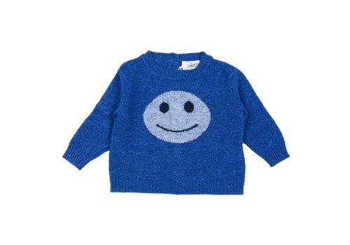 Aletta Aletta Pull Blauw Smiley