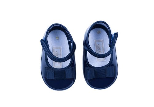 Aletta Aletta Ballerina Navy With Bow