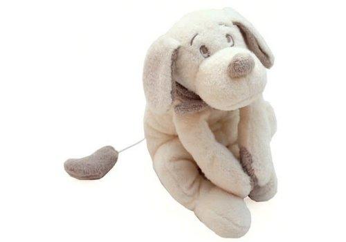 Dimpel Dimpel Muziek Knuffel Fifi Hond 30 cm Ecru