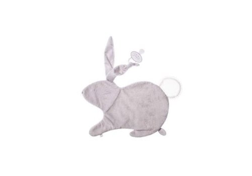 Dimpel Dimpel Cuddle Cloth Tuttie Emma Rabbit Light Grey With Tetra Tail White