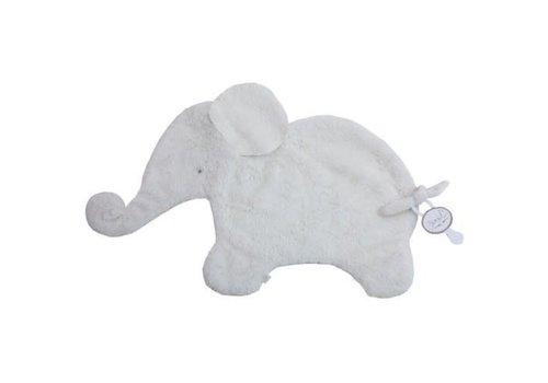 Dimpel Dimpel Cuddle Cloth Tuttie Elephant Oscar Long Hair White