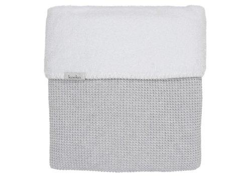 Koeka Koeka Baby Crib Blanket Vizela 75 x 100 Grey - White