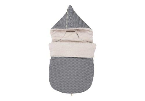 Koeka Koeka Baby Footmuff 5 Point Seat Belt Oslo Steel Grey - Pebble