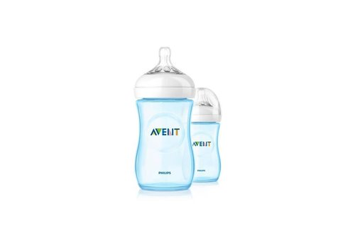 Avent Avent Natural Zuigfles 260 ml Duo Blauw