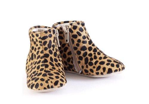 Petit Nord Schoen Met Rits Leopard