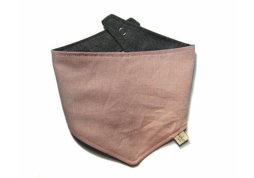 Kokolala Kokolala Burp Cloths Rosa Palo Liso Lino