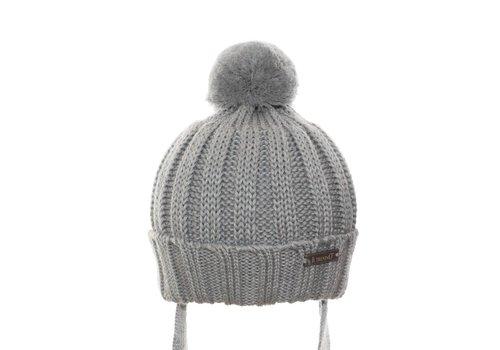 Il Trenino Il Trenino Hat With Pom Pom Grey