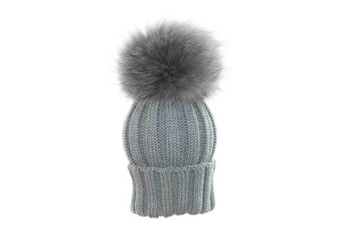 Catya Catya Hat With Pom Pom Grey