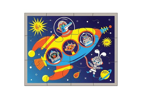 Bertoy Bertoy Pouch Puzzles Outer Space 12 Stuks