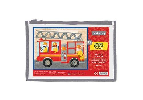 Pouch Puzzel Fire Truck 12 Stuks