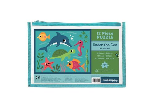 Bertoy Bertoy Pouch Puzzle Under The Sea 12 Pieces