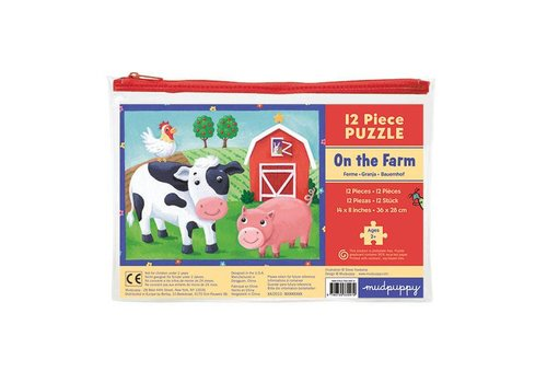 Bertoy Bertoy Pouch Puzzles On The Farm 12 Pieces