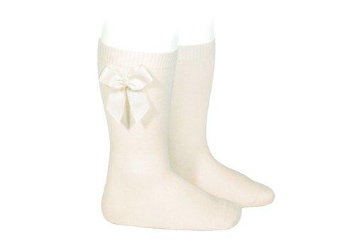 Condor Condor Knee Socks With Bow Offwhite