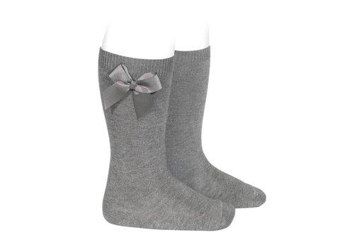 Condor Condor Knee Socks With Bow Grey