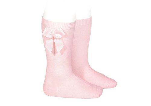 Condor Condor Knee Socks With Bow Pink