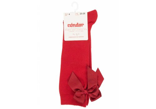 Condor Condor Knee Socks With Bow Red