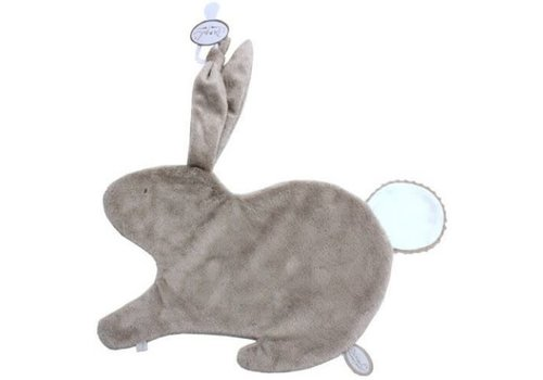 Dimpel Dimpel Cuddle Cloth Tuttie Emma Rabbit Beige With Tetra Tail White