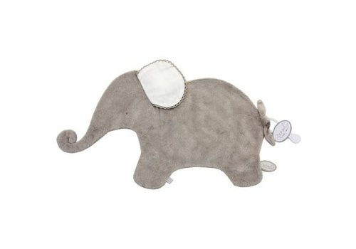 Dimpel Dimpel Cuddle Cloth Tuttie Elephant Oscar Beige With Tetra Ears White