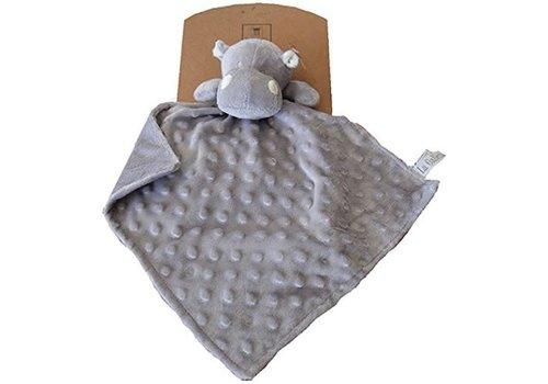 Galleria Galleria Cuddle Cloth Hippo With Nopjes Grey